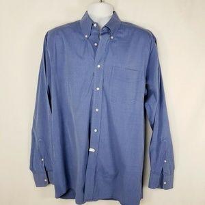 Jos A Bank Men Button Down Shirt Sz 16.5 -36  Blue